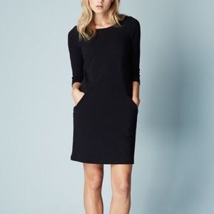 Boden black 3/4 length sleeve dress with pockets